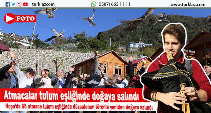 55 ATMACA TULUM EŞLİĞİNDE DOĞAYA SALINDI