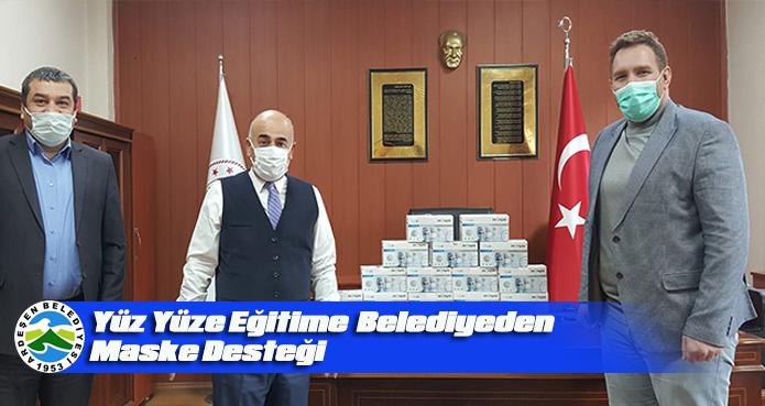 ARDEŞEN BELEDİYESİ'NDEN EĞİTİME MASKE DESTEĞİ