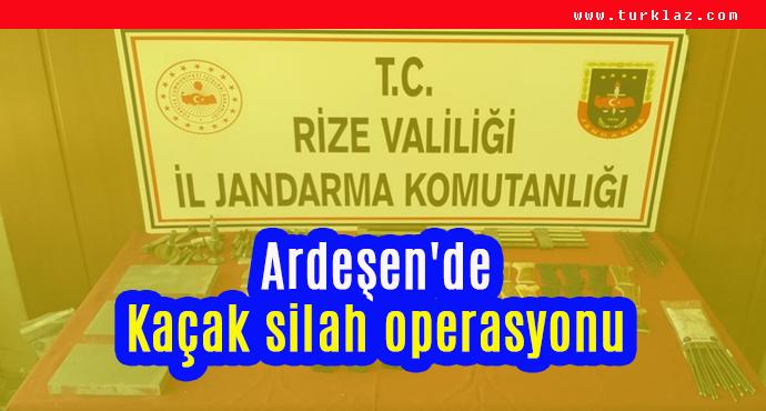ARDEŞEN'DE KAÇAK SİLAH OPERASYONU