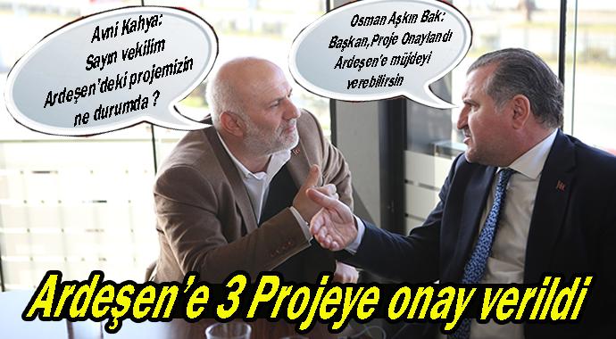 ARDEŞEN'E 3 PROJE ONAYI