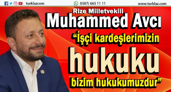 AVCI;SENDİKA İŞÇİLERİNE SESLLENDİ