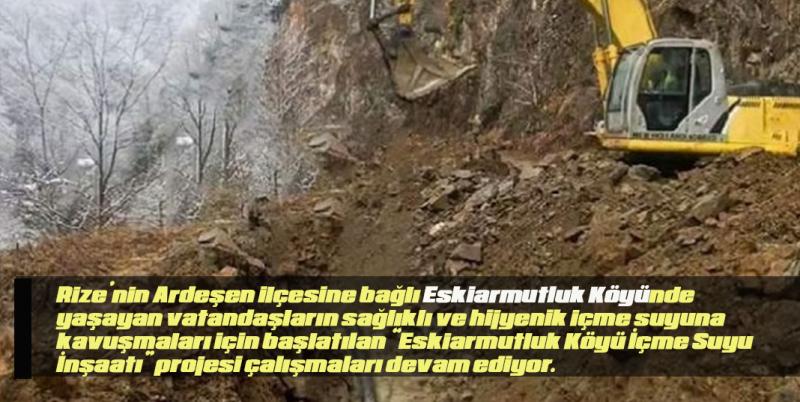 Eskiarmutluk Köyü Sağlıklı İçme Suyuna Kavuşuyor