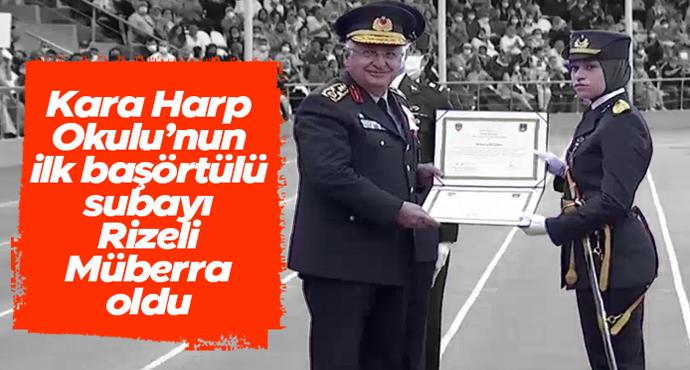 ilk başörtülü subayı Rizeli Müberra Öztürk oldu