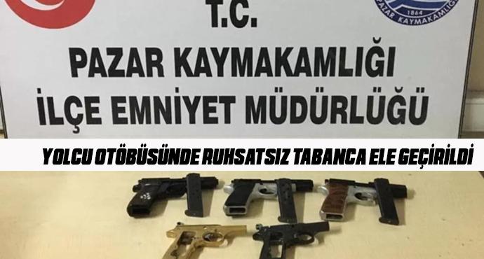 Pazar İlçesinde 3 adet ruhsatsız tabanca ele geçirildi