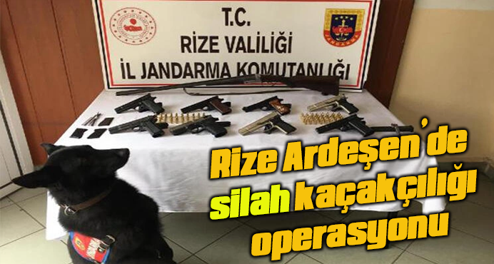 Rize Ardeşen'de silah kaçakçılığı operasyonu