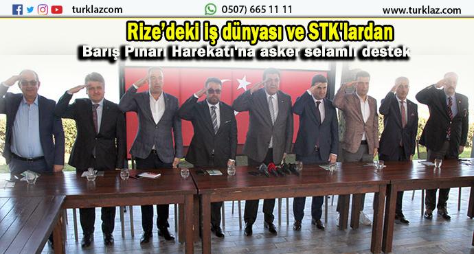 RİZE STK'LARDAN BARIŞ HAREKATI'NA TAM DESTEK