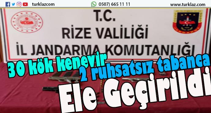 RİZE'DE JANDARMA OPERASYONU