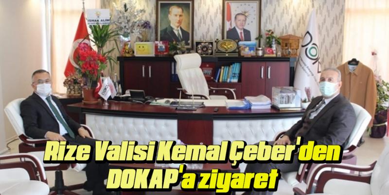Vali Çeber'den DOKAP'a ziyaret