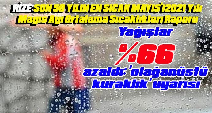 Yağışlar yüzde 66 azaldı.Rize'de durum ne?