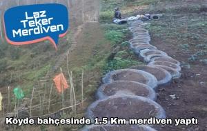 ARABA TEKERİNDEN 1.5 KM'LİK MERDİVEN