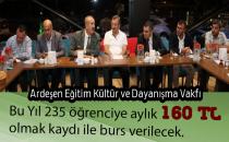 ARDEŞEN VAKFI 235 ÖĞRENCİYE BURS VERECEK