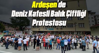 Ardeşen'de Deniz Kafesli Balık Çiftliği Protestosu