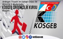 ARDEŞEN'DE KOSGEB GİRİŞİMCİLİK KURSU