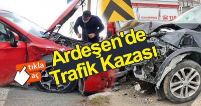 ARDEŞEN'DE MADDİ HASARLI TRAFİK KAZASI