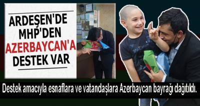 ARDEŞEN'DE MHP'DEN AZERBAYCAN'A DESTEK VAR