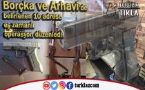 ARHAVİ VE BOÇKA'DA KAÇAK SİLAH OPERASYONU