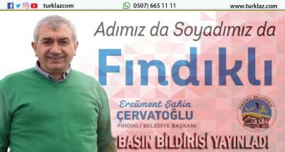 BAŞKAN,ÇERVATOĞLU BASIN BİLDİRİSİ YAYINLADI.
