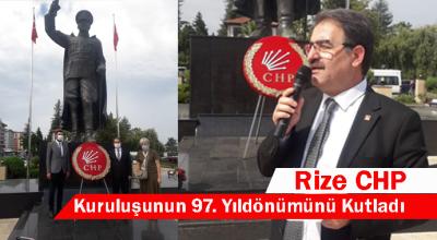 CHP 97 YAŞINDA.RİZE'DEKİ KUTLAMALAR BAŞLADI.