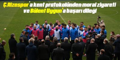 Ç.Rizespor'a kent protokolünden moral ziyareti ve Bülent Uygun'a başarı dileği