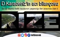 D.KARADENİZ TRAFİK KAZALARINDA BİLANÇO VAHİM