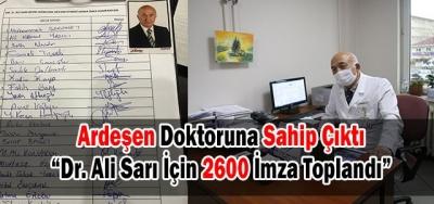 DR ALİ SARI İÇİN 2600 İMZA TOPLANDI