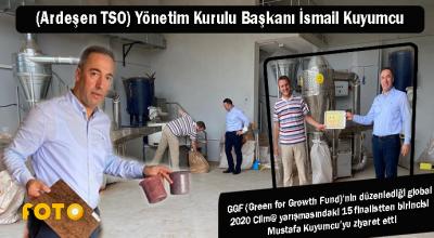 ARDEŞEN TSO BAŞARILI GİRİŞİMCİ MUSTAFA KUYUMCU'YU ZİYARET ETTİ