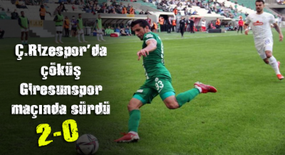 GZT Giresunspor - Çaykur Rizespor: 2-0