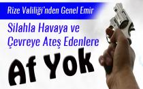 HAVAYA ATEŞ EDENE 'AF YOK'