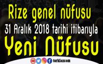 İŞTE RİZE VE İLÇELERİN 2018 YILI NÜFUSLARI