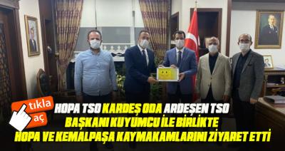 KARDEŞ TSO BAŞKANLARI HOPA'DAKİ ZİYARETLERİ