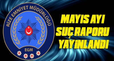 Rize Emniyet Müdürlüğü Mayıs Ayı Faliyet Raporu