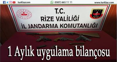 RİZE JANDARMA 1 AYLIK OPERASYON ANALİZİ