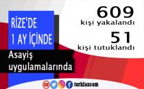 RİZE'DE 609 YAKALAMA,51 TUTUKLAMA