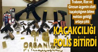 RİZE,TRABZON,GİRESUN Üçgeninde kaçakçılığı Polis bitirdi